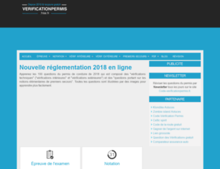 verificationpermis.free.fr screenshot