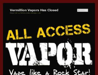 vermillionvapors.com screenshot