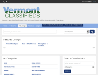 vermontclassifieds.com screenshot