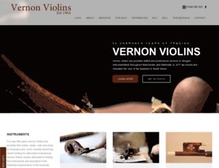 vernon-violins.co.uk screenshot