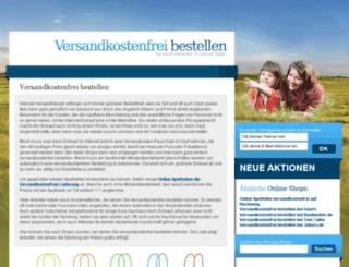 versandkostenfreibestellen.com screenshot