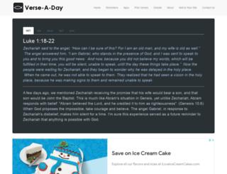 verse-a-day.com screenshot