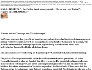 versicherungguenstig.com screenshot