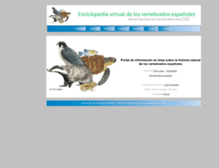 vertebradosibericos.org screenshot