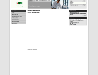 vertriebsservice.hdi-gerling.de screenshot
