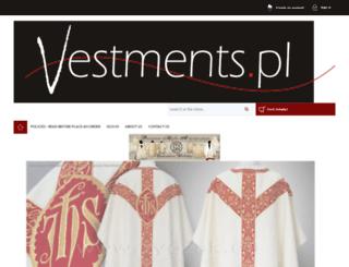vestments.pl screenshot