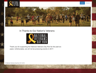 veteransdayrun.com screenshot