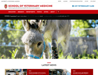 vetmed.wisc.edu screenshot