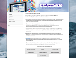 vetokonsultit.fi screenshot