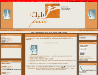 vetrina.clubpoeti.it screenshot