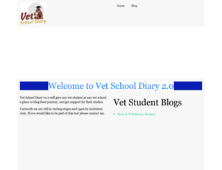 vetschooldiary.com screenshot