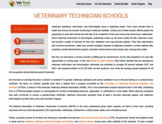 vettechcolleges.com screenshot