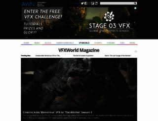 vfxworld.com screenshot