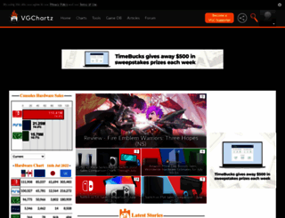 vgchartz.com screenshot