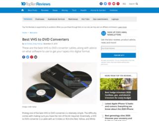vhs-to-dvd-review.toptenreviews.com screenshot