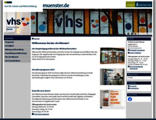 vhs.muenster.de screenshot