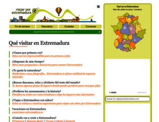 viajarporextremadura.com screenshot