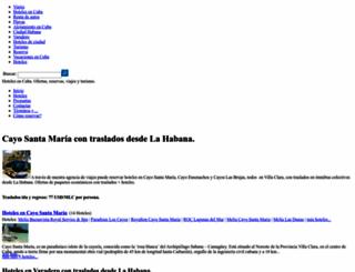 viajehotelescuba.com screenshot