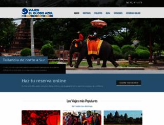 viajeselgloboazul.com screenshot