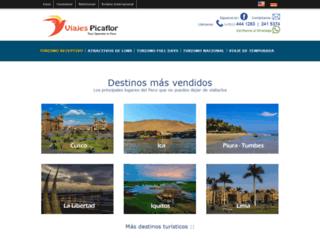 viajespicaflorperu.net screenshot