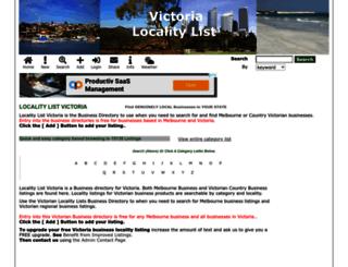 victoria.localitylist.com.au screenshot