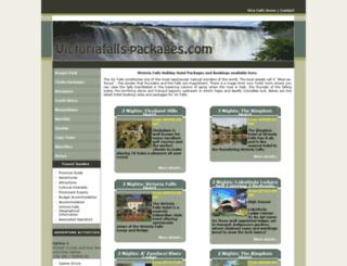 victoriafalls-packages.com screenshot