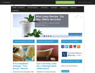 victorianamagazine.com screenshot