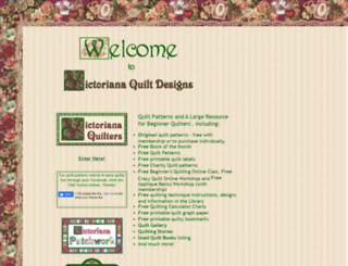 victorianaquiltdesigns.net screenshot