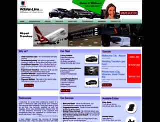 victorianlimo.com.au screenshot