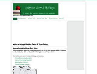 victoriaschoolholidays.com.au screenshot