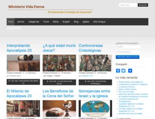 vidaeterna.org screenshot