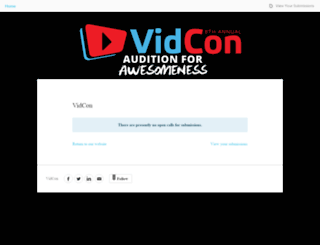 vidcon.submittable.com screenshot