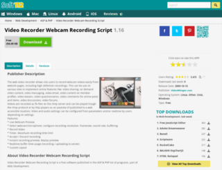 video-recorder-webcam-recording-script.soft112.com screenshot