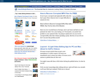 videoeditingsoftware.com screenshot