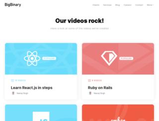 videos.bigbinary.com screenshot