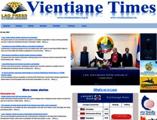vientianetimes.org.la screenshot