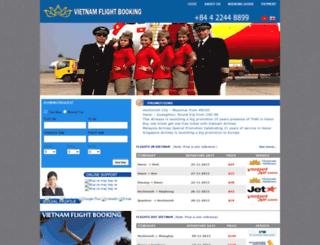 vietnamflightbooking.com screenshot
