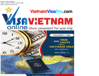 vietnamvisapro.com screenshot