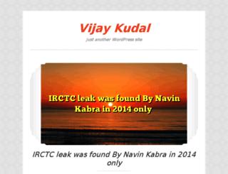 vijaykudal.in screenshot