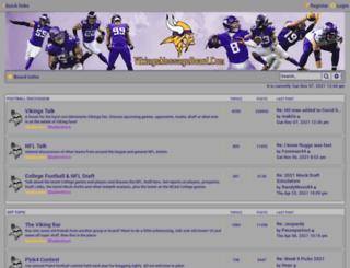 vikingsmessageboard.com screenshot
