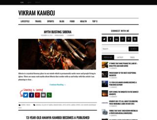 vikramkamboj.com screenshot