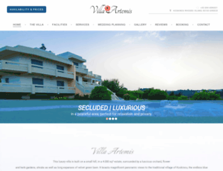 villa-artemis.com screenshot
