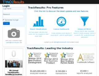 villa.trackresults.net screenshot