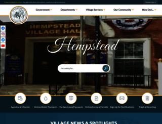 villageofhempstead.org screenshot