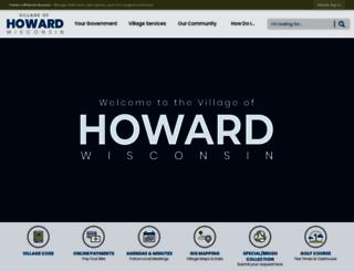 villageofhoward.com screenshot