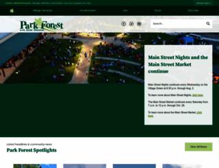 villageofparkforest.com screenshot
