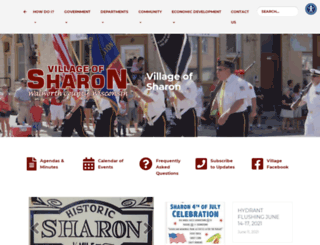 villageofsharon.com screenshot