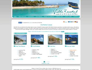 villarentalcuracao.com screenshot