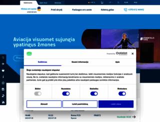 vilnius-airport.lt screenshot