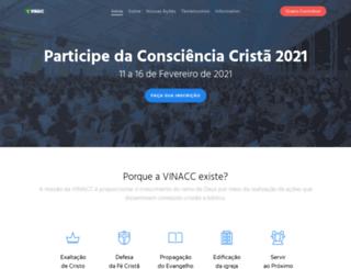 vinacc.org.br screenshot